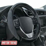 Motor Trend Sw-813 Carbon Fiber Detail Leather Steering Wheel Cover With Adva...