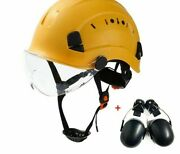Chainsaw Safety Helmet With Ear Defenders And Mesh Visor Glasses Protection