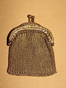 Vintage Women's Made In Germany Mini Metal Chain Change Purse