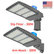 Security Light, Dusk To Dawn Super Bright 300w Led Street Outdoor Etl- Certified