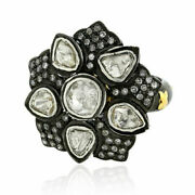 Natural Pave Diamond Solid 925 Sterling Silver Designer Gift Womens Ring Jewelry