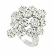 Natural Pave Diamond Solid 925 Sterling Silver Wedding Band Womens Ring Jewelry