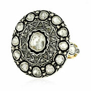 Natural Pave Diamond Solid 925 Sterling Silver Husband Gift Womens Ring Jewelry
