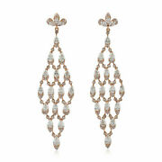Natural Pave Diamond Solid 925 Sterling Silver Christmas Womens Dangle Earring