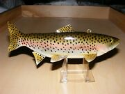 Rainbow Trout Fish Decoy By Jim Stangland