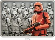2021 Niue 2 Star Wars Guards Of The Empire Sith Trooper 1 Oz Silver Coin Bar