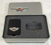 Harley Davidson Motorcycles 95th Anniversary Zippo Lighter In Collectible Tin