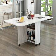 Folding Dining Mable Multi Functional Movable Kitchen Furniture Extendable Table
