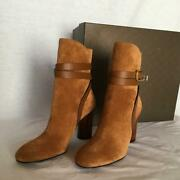 Us6 Size Short Boots Suede Brown