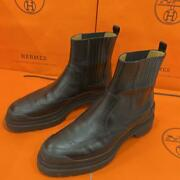 Hermes Side Gore Boots Leather Notation Size Eu43