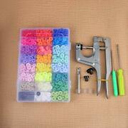 408 Sets Plastic Snap With Snaps Plier Buttons No-sew T5 Snaps Fastener With ...