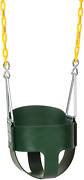 Eastern Jungle Gym Heavy-duty High Back Full Bucket Toddler Swing Seat With Coat