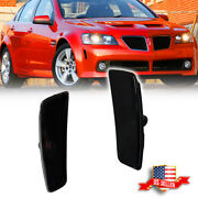 2x Smoke Front Bumper Side Markers Light Housing For 2008 2009 Pontiac G8 Gt Gxp