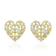 Natural Pave Diamond 925 Sterling Silver Christmas Gift Womens Stud Earrings