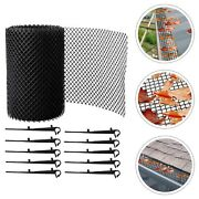 Mesh Gutter Guard Wire Net Cover Drain Leaf Debris Clog Protection Netting 8m .
