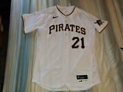 21 Pittsburgh Pirates 2020 Clemente Day Game Used Baseball Jersey 9/9/2020 Coa