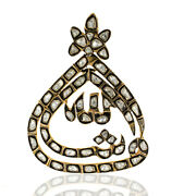 Natural Pave Diamond Solid 925 Sterling Silver Designer Womens Pendant Necklace