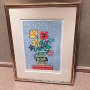 Paul Aizpiri Flower Lithograph Limited To 150 Copies Contemporary Painting/art