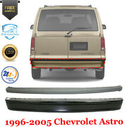 Rear Step Bumper Primed Steel + Step Pad Textured For 1996-2005 Chevrolet Astro