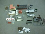 Ho Scale Structures - Aurora And Plasticville Buildings - Circa 1960