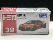 Tomica 39 Audi R8 1/62 Scale Takara Tomy Toy Vehicle Discontinued Dent On Box