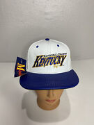 Vintage Kentucky Wildcats Leather Snapback Hat Nwt Usa Made National Champs 1996