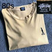 Rare 80s Stussy Shadowman Embroidered Logo Made In Usa T-shirt