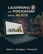 Learning To Program With Alice Paperback By Dann Wanda P. Cooper Stephen...