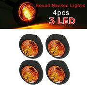 12v Car Truck Lorry Round Led Bullet Button Rear Side Mini Marker Lights Lamp X4