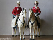 Vintage 1950and039s Hartland 800 Series Red/white Champ Cowboy And Cowgirl Complete