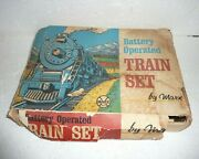 Marx Train Set Battery Operated Vintage Union Pacific Locomotive Cars Building