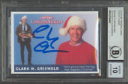 Chevy Chase Christmas Vacation Signed Custom Trading Card Auto 10 Bas Slabbed 4