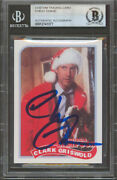 Chevy Chase Christmas Vacation Signed Griswold Custom Trading Card Bas Slabbed 1