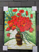 Oil Flowers Paintings On Canvas Size 1216 Inches