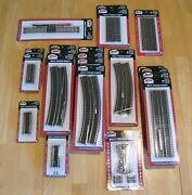 Atlas Ho Scale Code 83 Lot Of Track - Instant Layout - Total Of 118 Pieces New