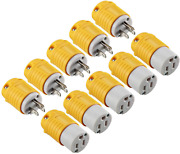 Miady Extension Cord Ends Male And Female, 15 Amp 125 Volt Heavy Duty Plug And Co