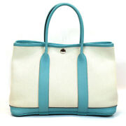 Hermes Garden Party Tpm Blue Atol Tote Bag Women And039s
