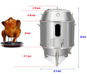 Preasion Charcoal Chicken Duck Roaster Grill Oven Cooker Bbq Roast Turkey 304 Ss