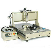 4 Axis Router 6090 Cnc Engraver Vfd Woodworking Milling Carving Machine 1.5kw+rc