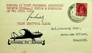 India 1940 Very Rare Hyderabad Air Service Pilot Signed Inaugural Flight Cover