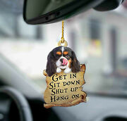 Cavalier King Charles Spaniel Get In Two Sided Ornament, Cute Dog Ornament