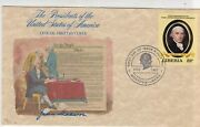Liberia J. Madison President Of The United States 1982 Fdc Stamp Cover Ref 37532