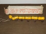 Vintage 13 Long Taftoy Bethpage Action Pull Toy Cappy The Caterpillar In Box