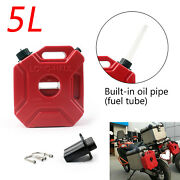 Motorcycle 5l Plastic Jerry Cans Gas Diesel Fuel Tank W/ Lock Suv Atv Scooter