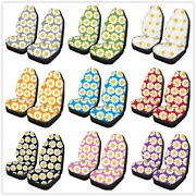 Universal Auto Car Seat Chair Cover Front Cushion Protector Daisy 3d Print Soft