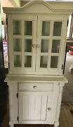 Vintage Style Shabby Chic Cottage Rustic Farmhouse Cabinet Hutch Cupboard