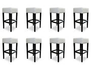 8x Bar Stool Counter Chair Set Chairs Pads Seat Set Pros New