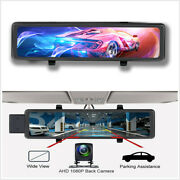 11.26in Car Dash Cam Video Recorder Android 8.1 32gb Gps Wifi W/rear View Cam