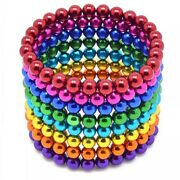 222pcs Magnetic Beads Balls Sticky Beads Adult Magnets 5mm + 6x Colors Sets