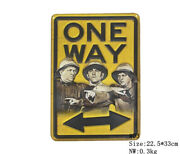 One-way Vintage Metal Tin Signs Funny Iron Poster Bar Cafe Decor